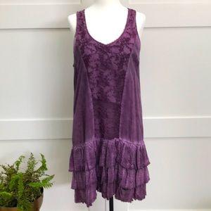 BLACK SWAN purple ruffle dress - NEW